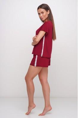 Модель - 025: вискозная  пижама шорты и футболка