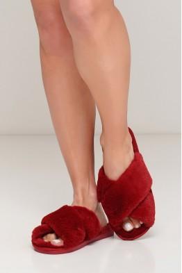 Модель - 03: меховые  женские комнатные тапочки