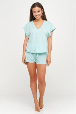 Модель - 047: Женский костюм шорты и футболка для дома