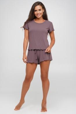 Модель 144: Костюм в рубчик тройка шорты  футболка и  майка
