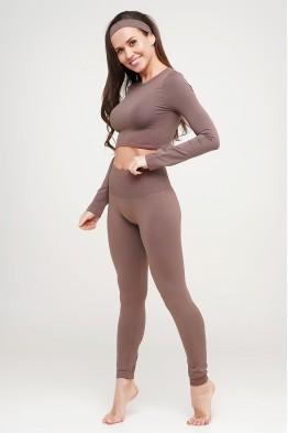 Модель - 204-2: Бесшовные женские легинсы с широким поясом