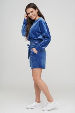 Комплект шорты и кроп-топ с длинным рукавом  №133